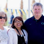 City Manager and Mrs Rick Daniels with Pat Cooper from supervisor Benoits office