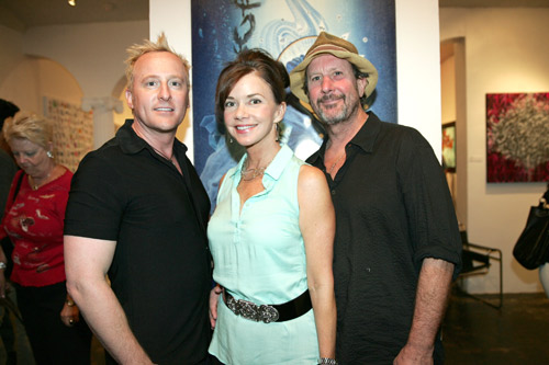 (bottom, left to right) Anthony Turk, actress Bobbie Eakes and David Steen.
