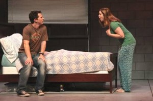 Shawn Hatosy and Amber Tamblyn in Reasons to Be Pretty~photo Michael Lamont