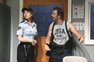 Alicia Witt and Nick Gehlfuss in Reasons to Be Pretty. photo Michael Lamont